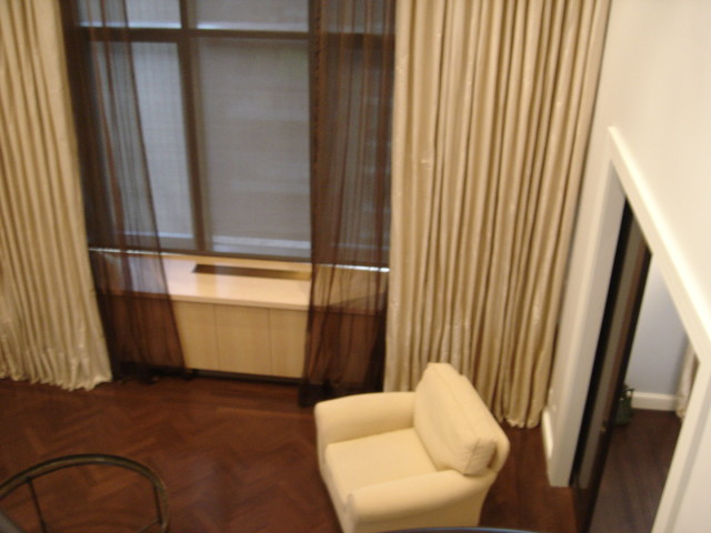 Curtains Sheers On A Pole High Ceiling Contemporary