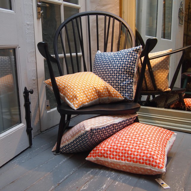 Cushions With Ercol Chair Contemporary Living Room London By Noah 39