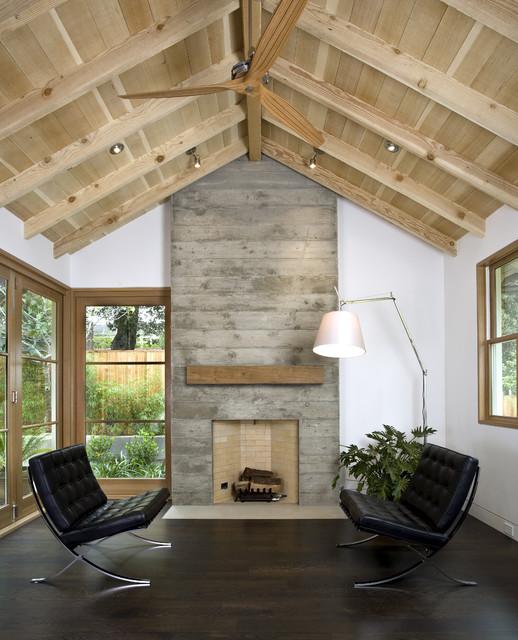 Custom Agrarian Style Residence transitional-living-room