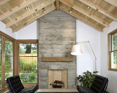 Custom Agrarian Style Residence transitional-living-room