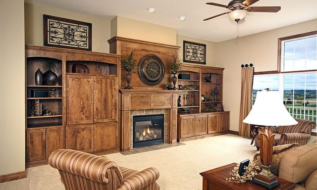 Custom Amish Cabinets traditional-living-room