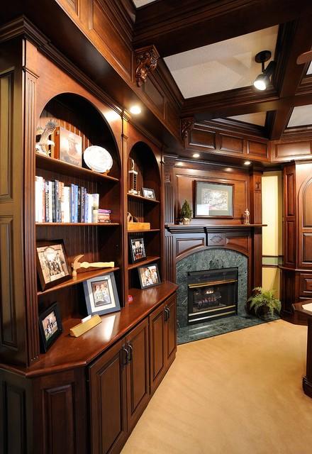 Custom Amish Cabinets traditional-living-room