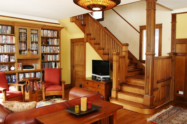 Custom Bookcase And Tv Cabinet