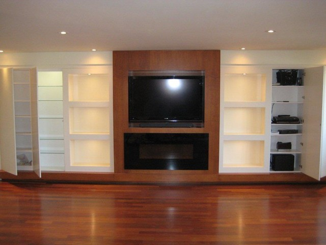 Custom Built In Cabinetry  living room