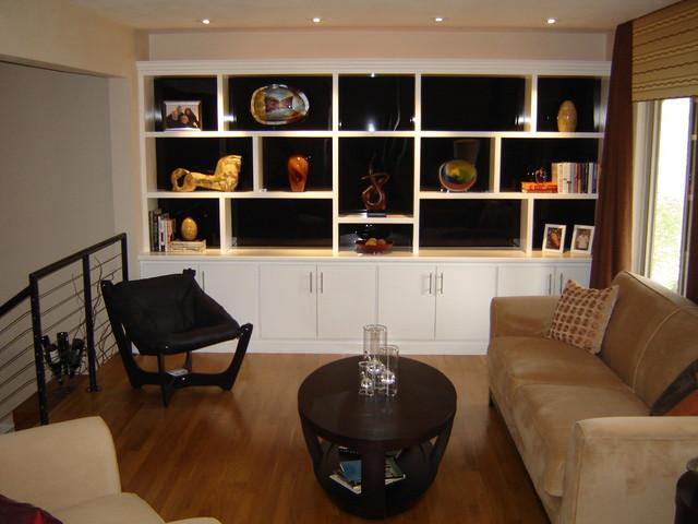 Custom Built Insmodern Living Room St Louis