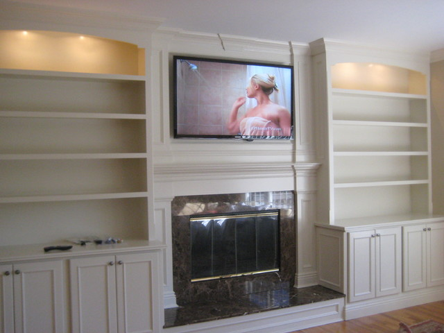 custom living room cabinets and shelves 3