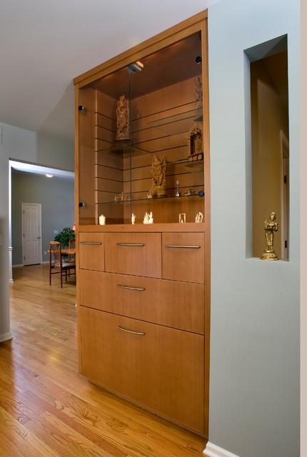 Custom Cabinets Asian Living Room Detroit By Meadowlark Builders