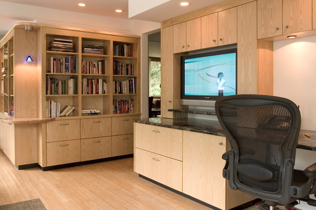 Custom Cabinets Contemporary Living Room Detroit By Meadowlark Builders