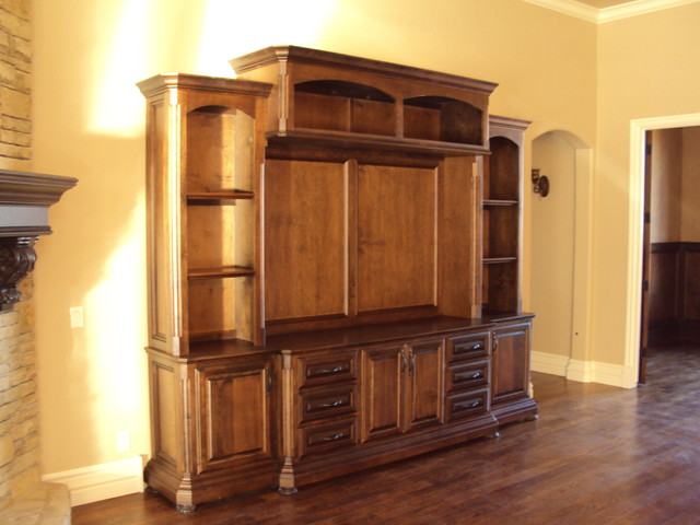 Custom cabinets traditional living room oklahoma - Custom cabinet companies ...