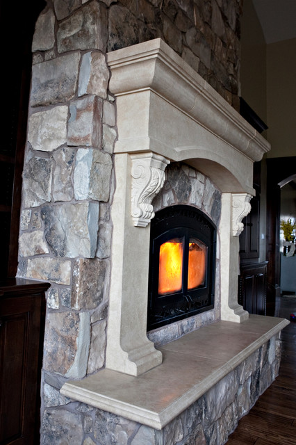 Custom Cast Stone Concrete Fireplace Mantel Surrounds ...