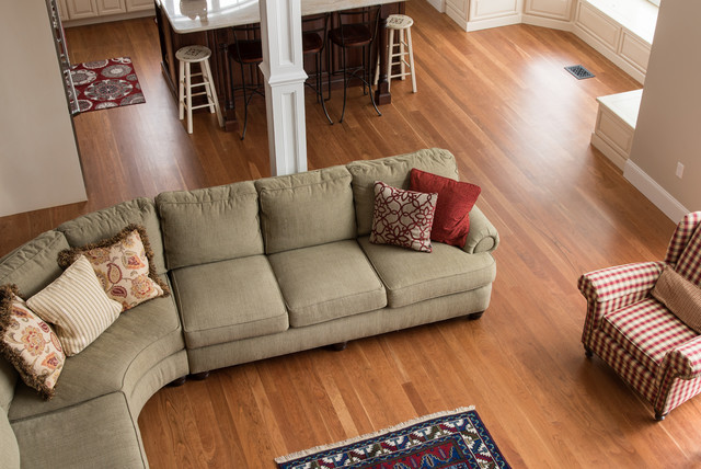 Custom Cherry Wood Floors Stairs New Hampshire Traditional Living