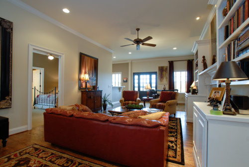 Custom Designed Farm House with Large Mother-In-Law Quarters farmhouse-living-room