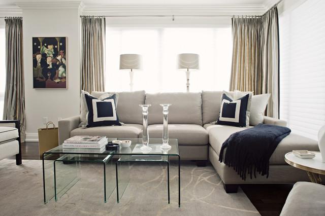 Custom Draperies Soft Furnishings Contemporary Living Room Toront