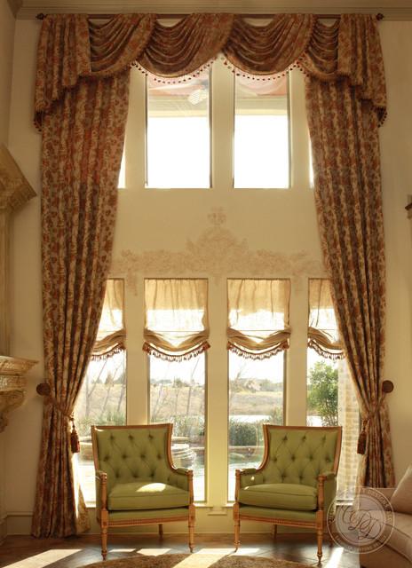 Custom Drapery Designs, LLC. - Traditional - Living Room ...