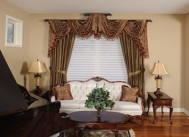 Living Room Swags Traditional Curtain Rods Minneapolis By Shelly 39 S Interior Concepts