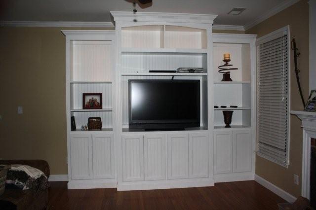custom entertainment centers traditional-living-room