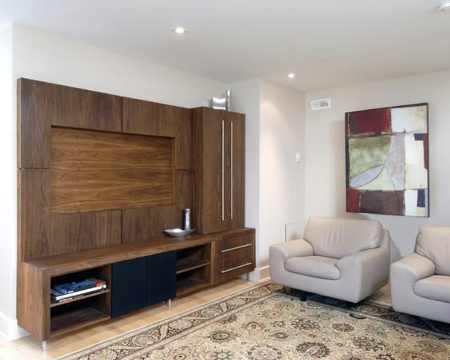custom entertainment unit - Contemporary - Living Room - ottawa - by Southam Design Inc