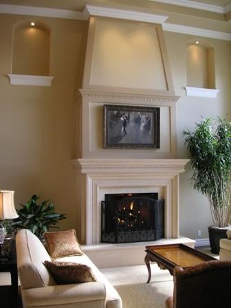 Custom Fireplace Mantels by Artisan Mantels modern-family-room