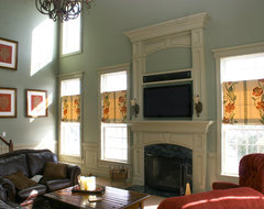 Custom Fireplace mantles, build-ins traditional living room