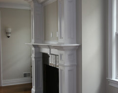 Custom Fireplace mantles, build-ins traditional-living-room