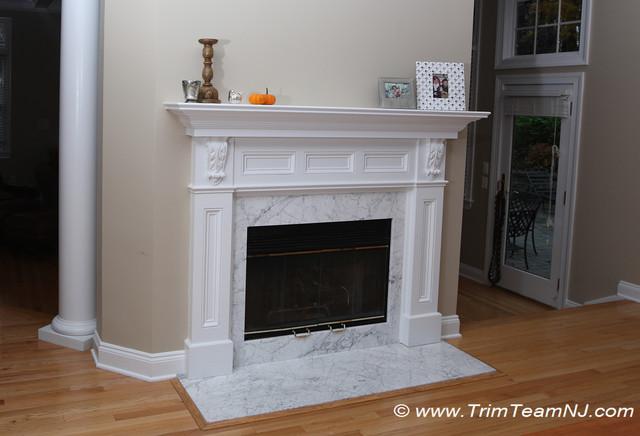 Interior window trim molding - Custom Fireplace Mantles Build Ins Living Room By Trim Team Nj