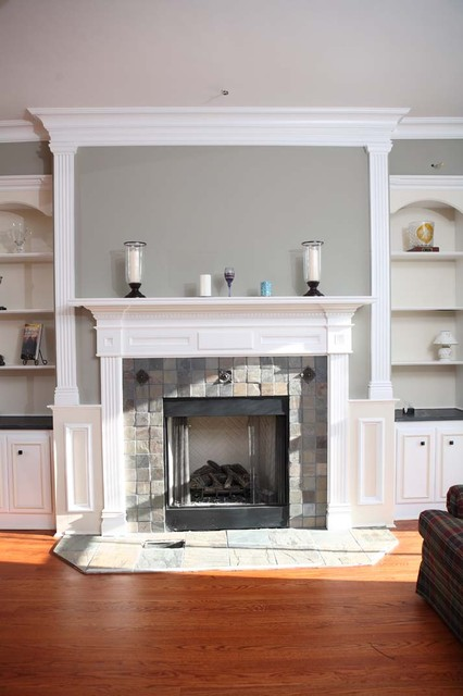 Custom Fireplace Mantles Build Ins Traditional Living Room New York