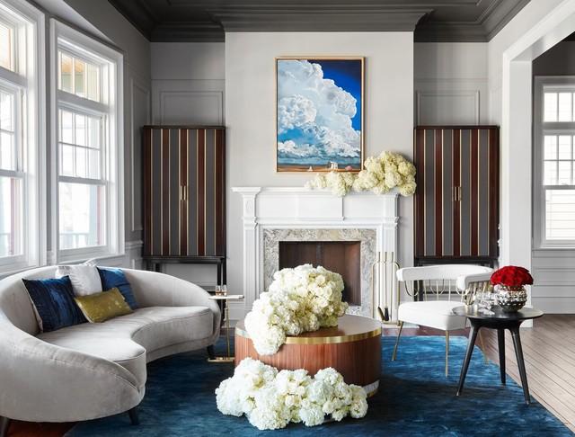 Custom Furniture: Ravenswood Residence transitional-living-room