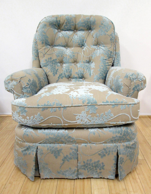 Custom Furniture with Thibaut Fabric Living Room Other