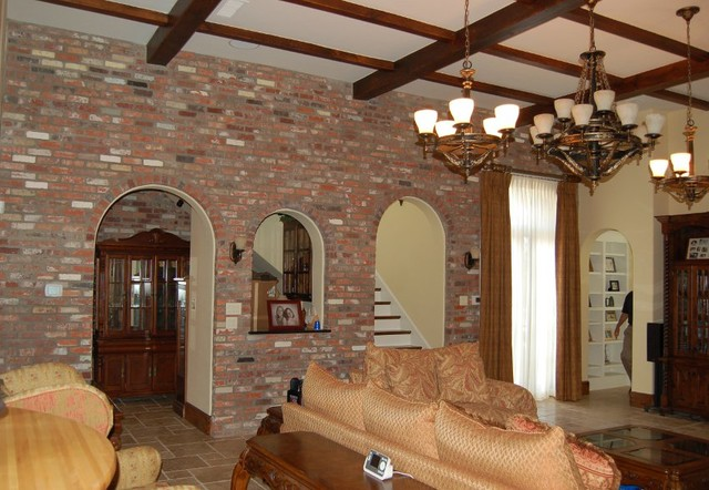 Custom home build in Flower Mound, TX. traditional-living-room