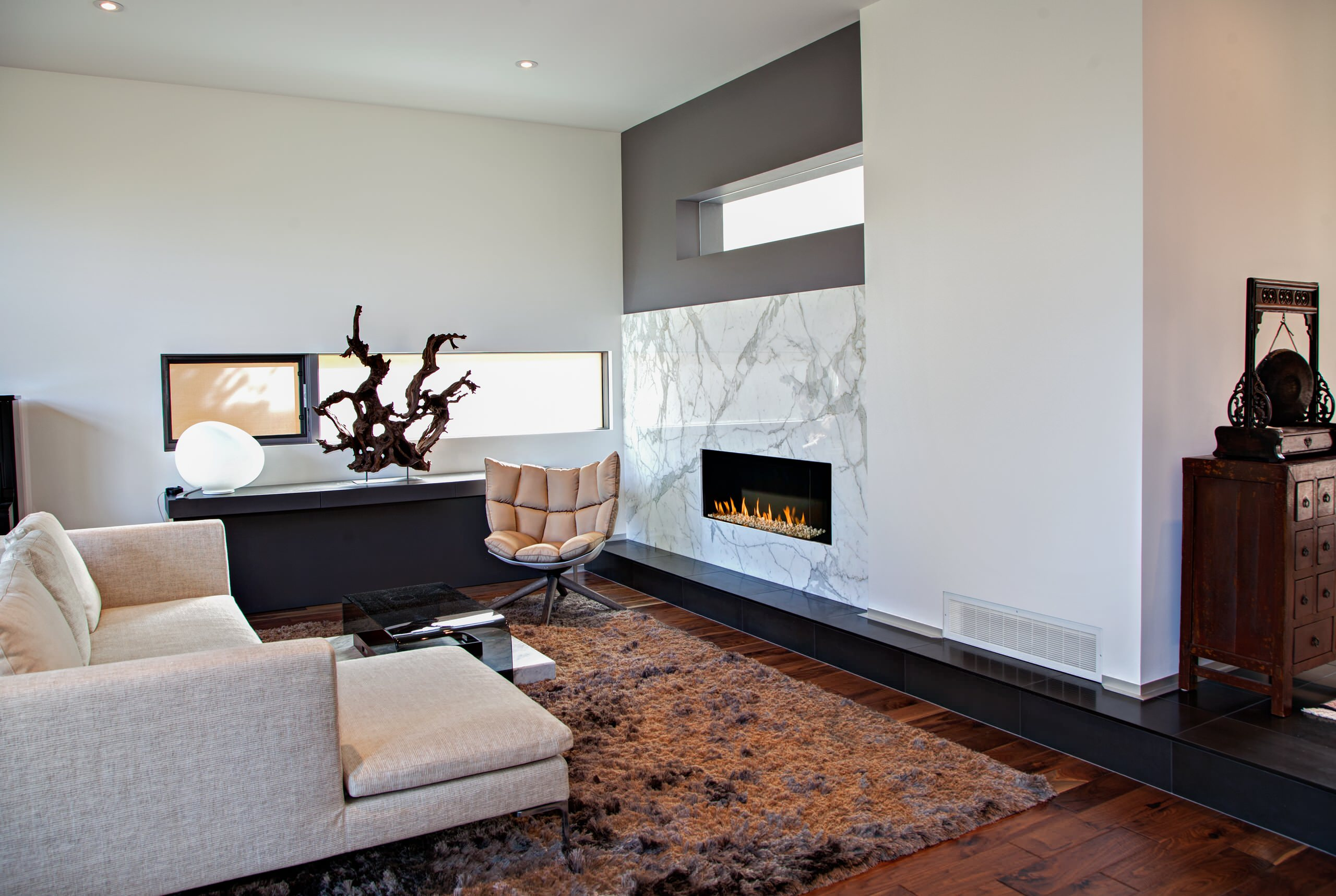 Gray Marble Fireplace Houzz