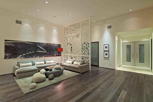 Custom Home Contemporary Living Room