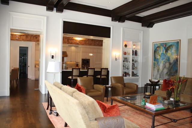 Custom Home mediterranean-living-room
