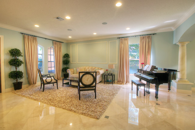 custom home in west boynton contemporary living room