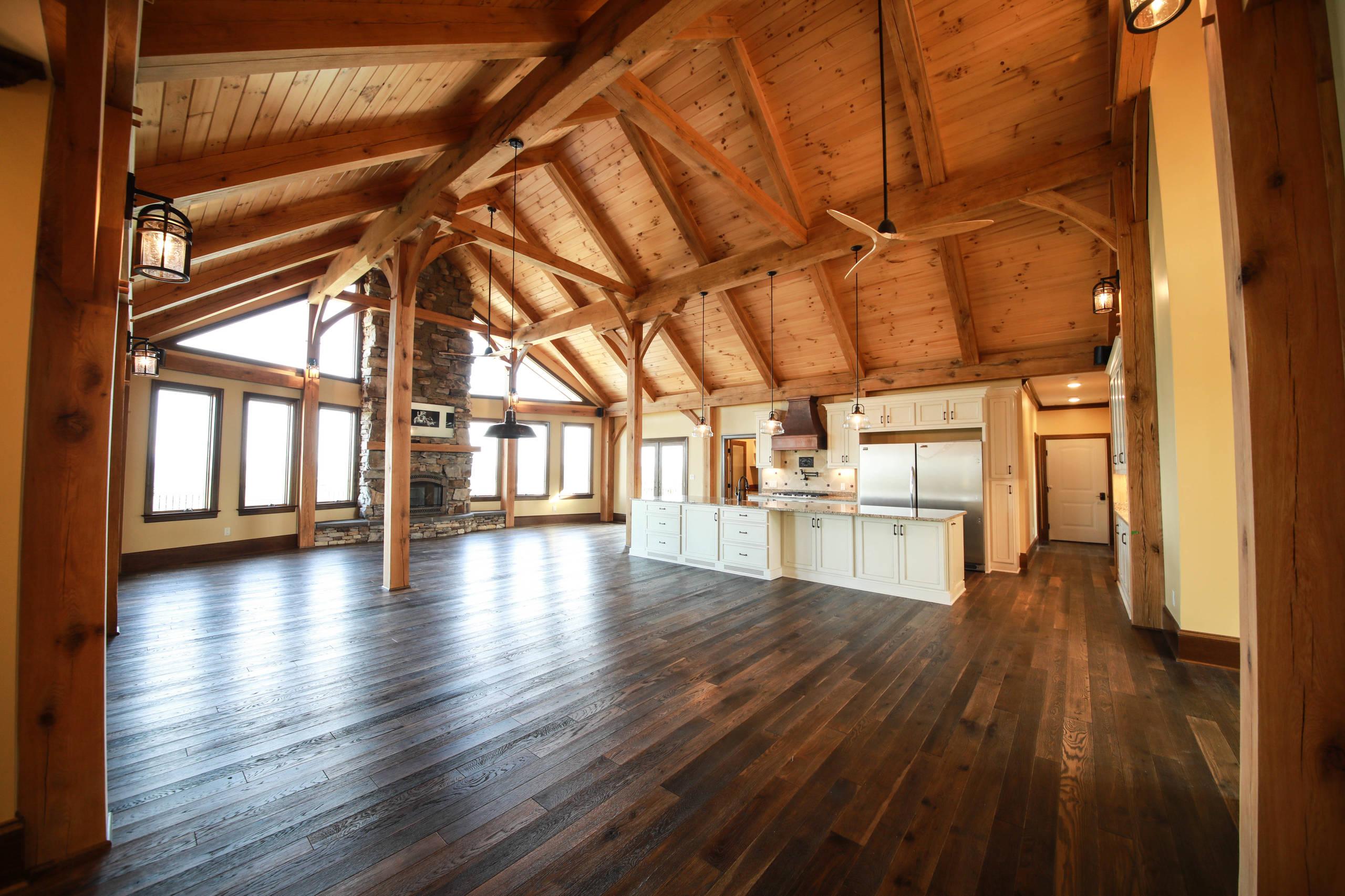 Custom Home: New Construction Timber Frame