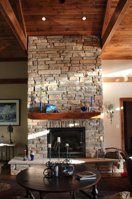 Custom Home rustic-living-room