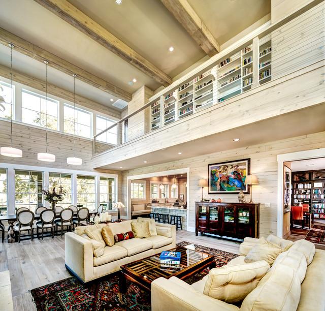 Custom Home: Private Rd. I New Braunfels, Texas farmhouse-living-room