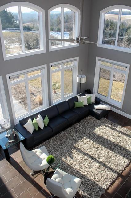 Custom Homes contemporary-living-room
