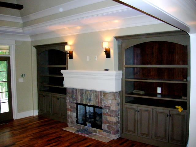 Custom Homes traditional-living-room