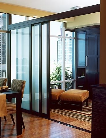 Custom Interior Glass Room Dividers Contemporary Living