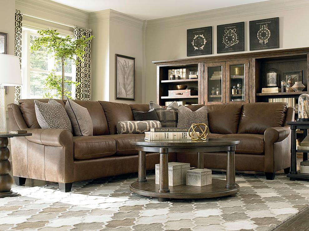 Custom Leather Ellery Sectional Living, Bassett Furniture Review
