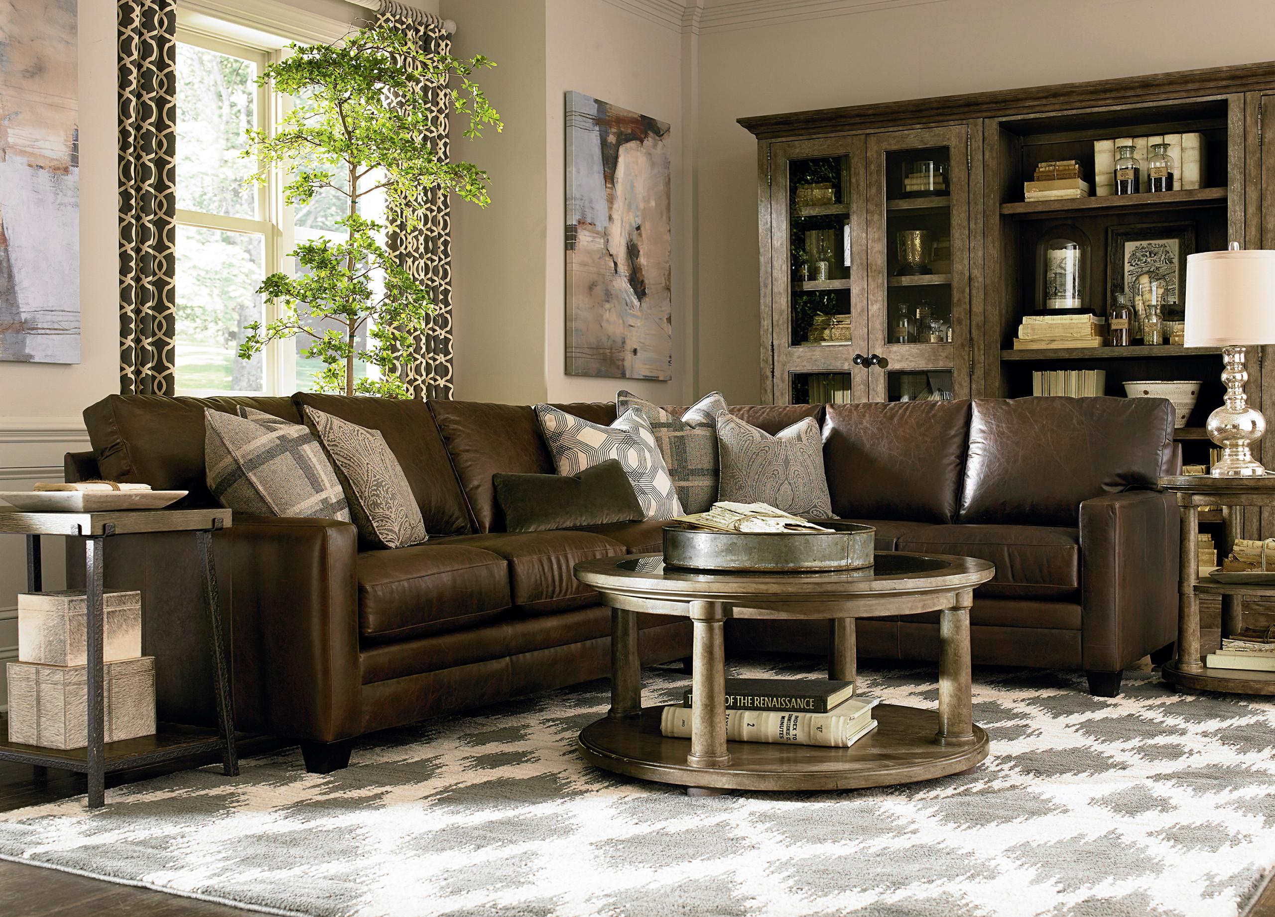 Dark Brown Sofa Houzz, Brown Leather Furniture Living Room Ideas