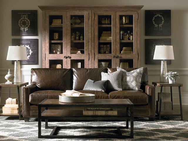 Custom Leather Ladson Sofa by Bassett Furniture ...