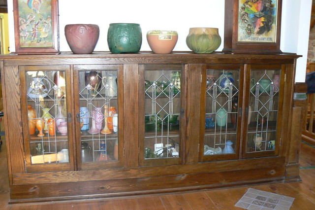 Custom Made Cabinet Rustic Living Room Philadelphia
