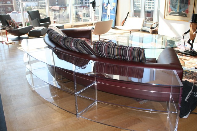 Custom Made Plexi Glass Furniture Contemporary Living Room Dc Metro B