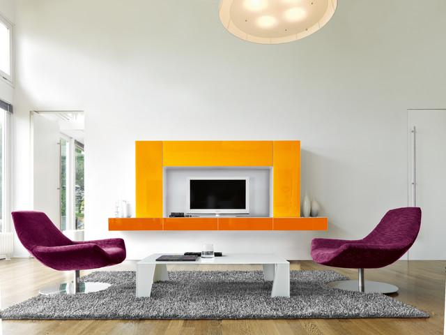 Custom manufactured Fine Living Room Cabinetry modern-living-room