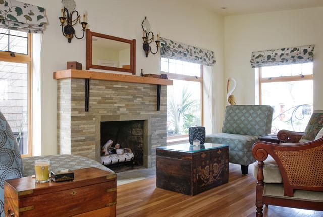 Custom Metal And Wood Fireplace Mantel Modern Living