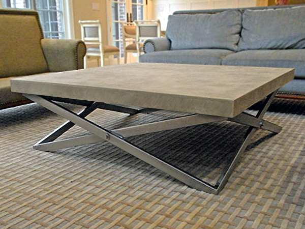 Superbe Custom Mobius Coffee Table Contemporary Living Room