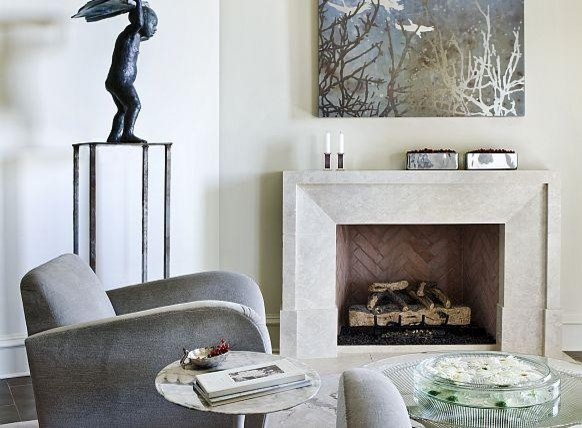 modern fireplace mantels | idi design