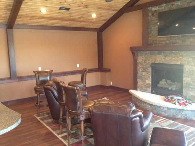 Custom Moss Rock Pool traditional-living-room