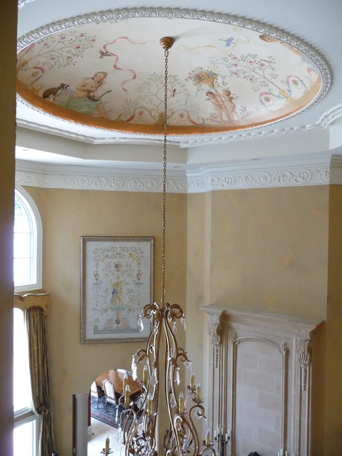 Custom Mural Dome traditional-living-room